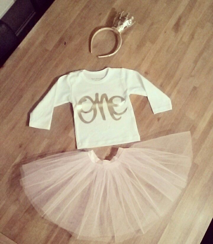 Outfit first Birthday Homemade tutu
