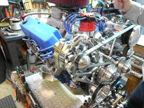 Ford 427w Stroker Balanced and Blue Printed Part 3 http://enginefactory.com/Ford_performance_engine_choices.htm