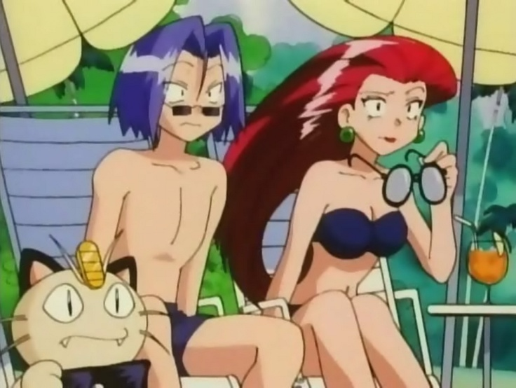 Team Rocket: Jessie, James, and Meowth...and surely Wabba-fett is hanging about…