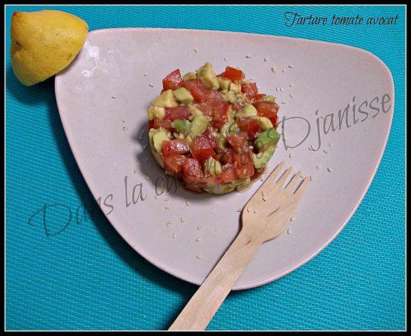 Tartare tomates et avocat