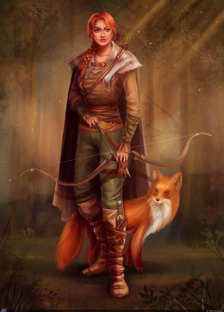 Элантель родная сестра Магини. ( Один из ее образов) Девушка живет в деревне. Одежда сделана своими руками. Имеет помощника ручную лисичку.