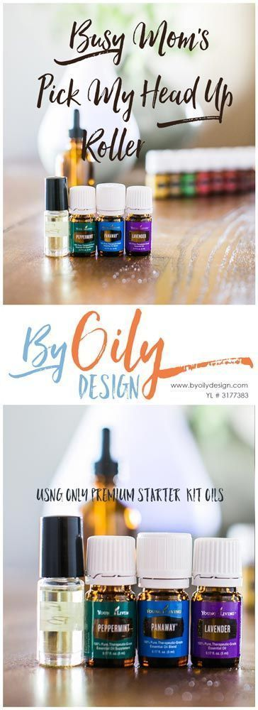 Try this DIY pick my head up roller using Peppermint, panaway and lavender�