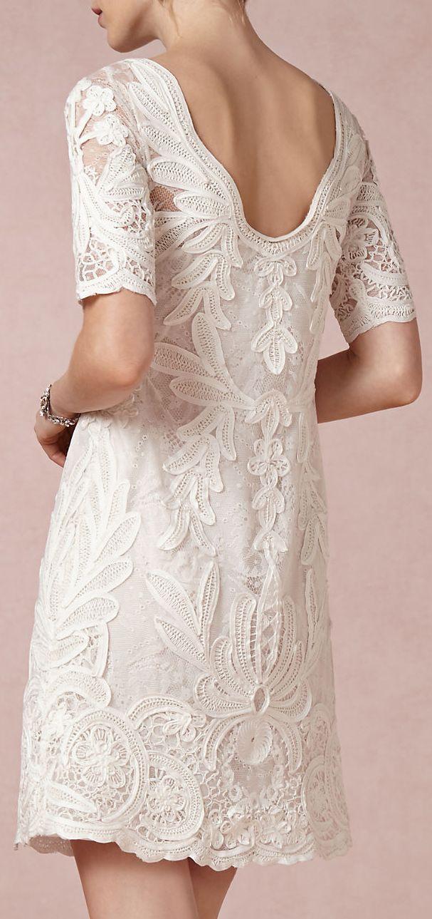 Hermoso Vestido de Encaje Blanco