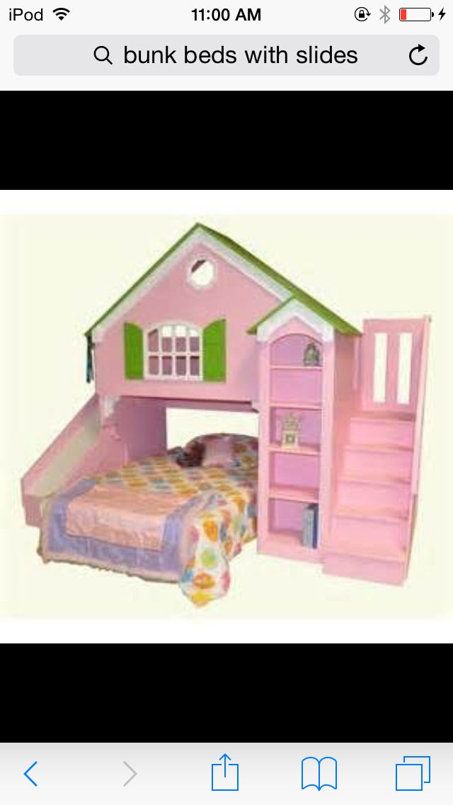 Girls Bunk Bed With Slide And House Looking