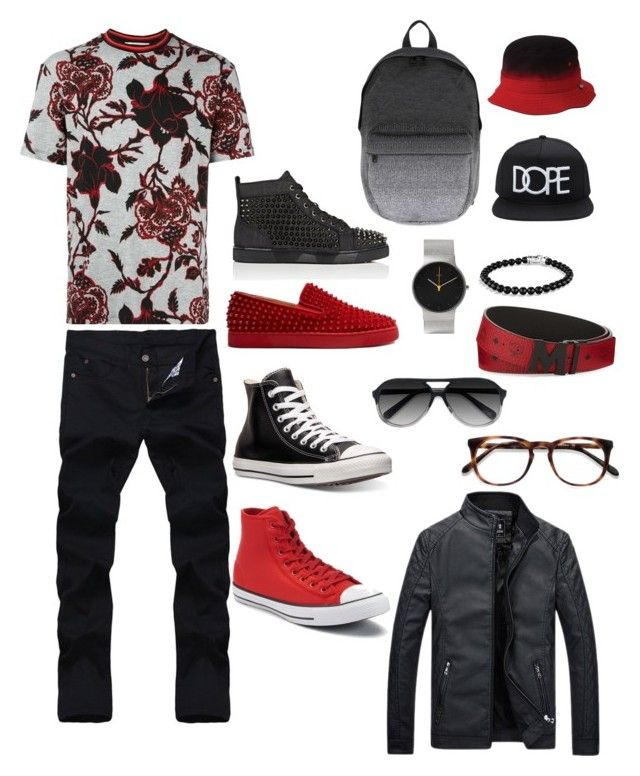 """""""Comfortable and casual!"""" by ad-adavis on Polyvore featuring McQ by Alexander McQueen, Christian Louboutin, Converse, Herschel, David Yurman, Braun, 21 Men, MCM, Ace and men's fashion"""