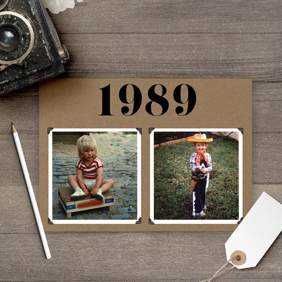 Wedding Photo Table numbers. Use your childhood photos to create these retro 5x7 throwback table numbers. These table number cards are double-sided and the same design will appear on the front and the back of the cards. Purchase a minimum of 5 custom designed table number cards with square cut corners. These table number designs are printed on premium 130# card stock. ►►Select the total number of table numbers you would like to order from the Table Numbers box.◄◄ This listing is for the...