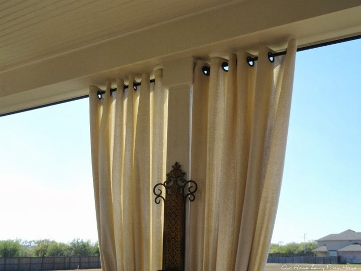 NO SEW OUTDOOR DROP CLOTH CURTAINS WITH GROMMETS