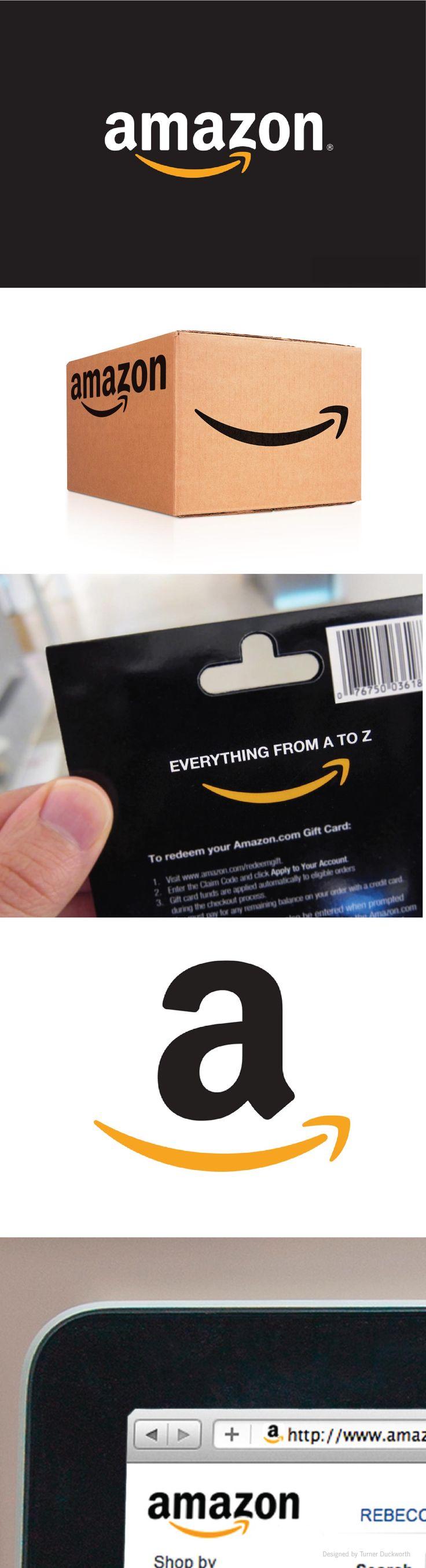 Amazon visual identity. Designed by Turner Duckworth.
