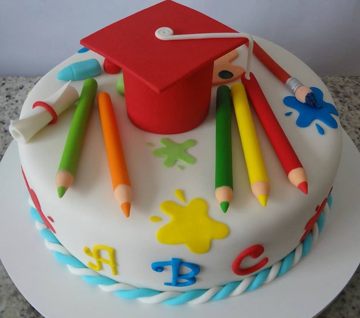 25 best ideas about graduation cake designs on pinterest for Abc cake decoration