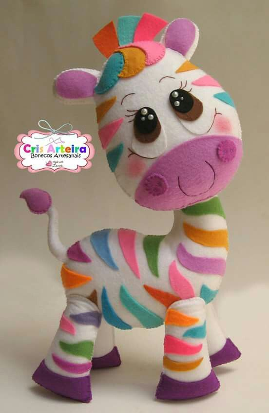 Zebrinha de feltro linda
