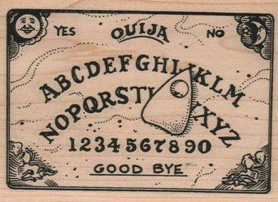 Large Halloween stamps Ouija board rubber stamps by pinksewingroom, $13.50