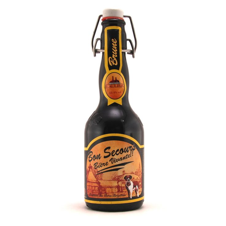 Bon Secours Brune 33cl Bon Secours Brune is a dark top fermentation beer by Brewery Caulier. This unfiltered and unpasteurized beer has a thick white head and a very rich aroma of mocha and hops. It has quite a bitter flavor and an alcohol content of 8.0%.