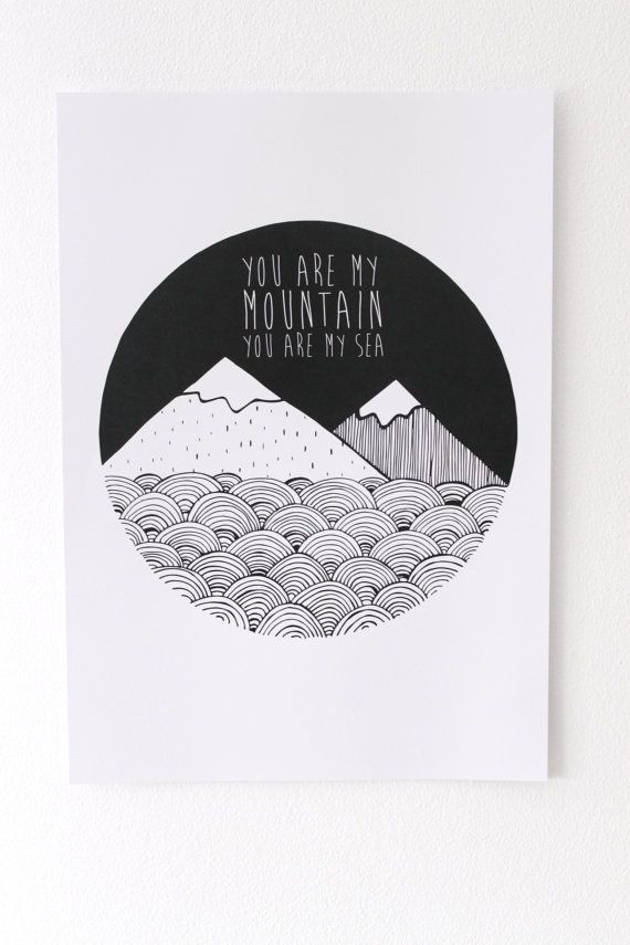 Biffy Clyro Illustration Print Mountains by lloydloves on Etsy, £8.00