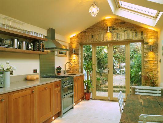 Kitchen extension small victorian terraced cottage  Simonramm.com