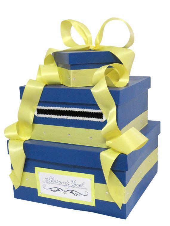Nautical #wedding Card Box money holder with monogram by The Card Box Diva $140