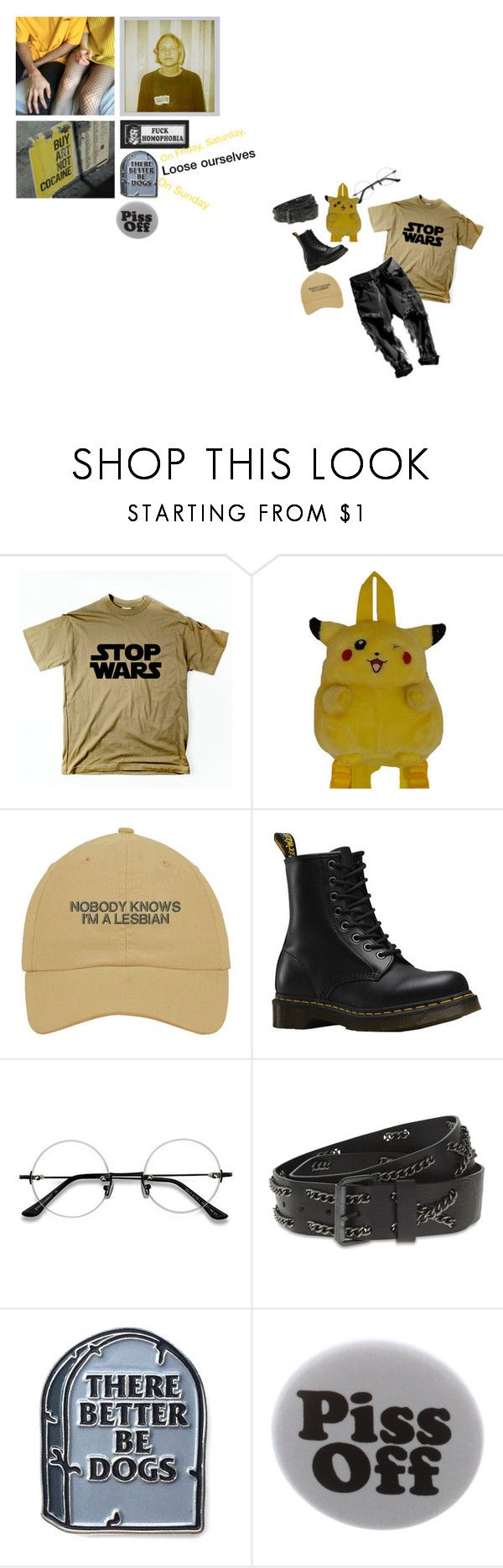 """""""We're still figuring out"""" by countess-jessica-rose ❤ liked on Polyvore featuring Dr. Martens, EyeBuyDirect.com, Diesel and Humör"""