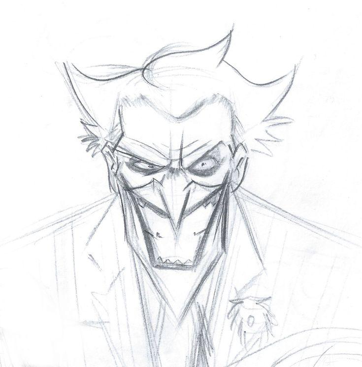 Джокер рисунок легкий