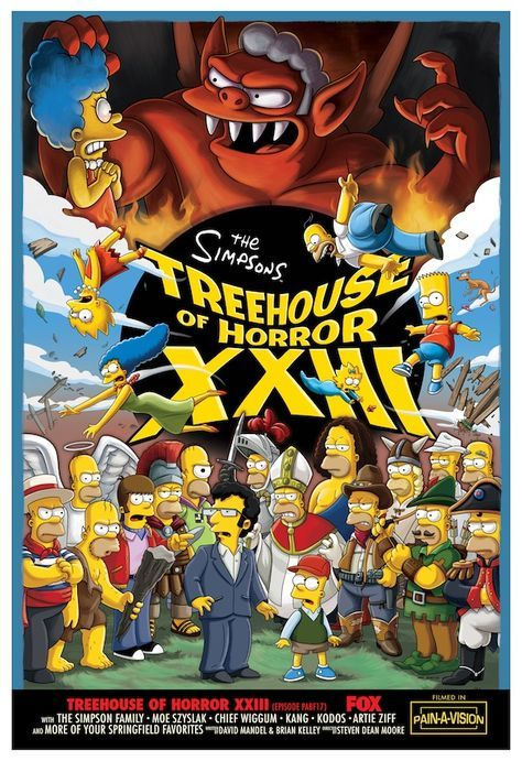 The Simpsons Treehouse of Horror XXIII poster by Matt Groening