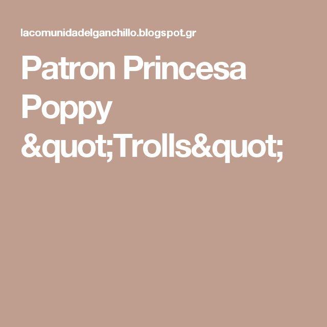 "Patron Princesa Poppy ""Trolls"""