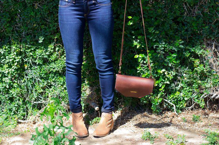 r. riveter, shark tank, purse, handbag, rag & bone jeans, ellison gingham top, leather wrap bracelet, seychelles cut out booties
