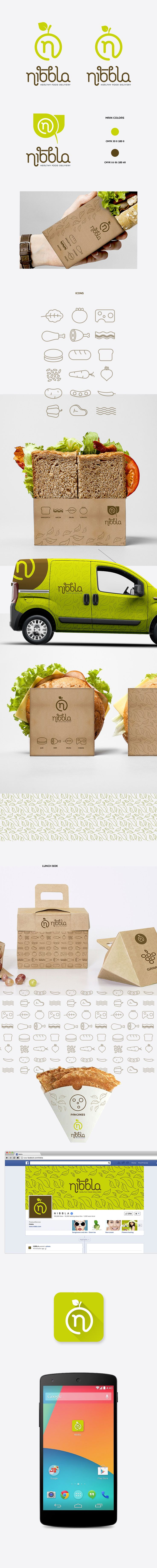 Nibbla healthy food delivery by goopanic and food app. PD