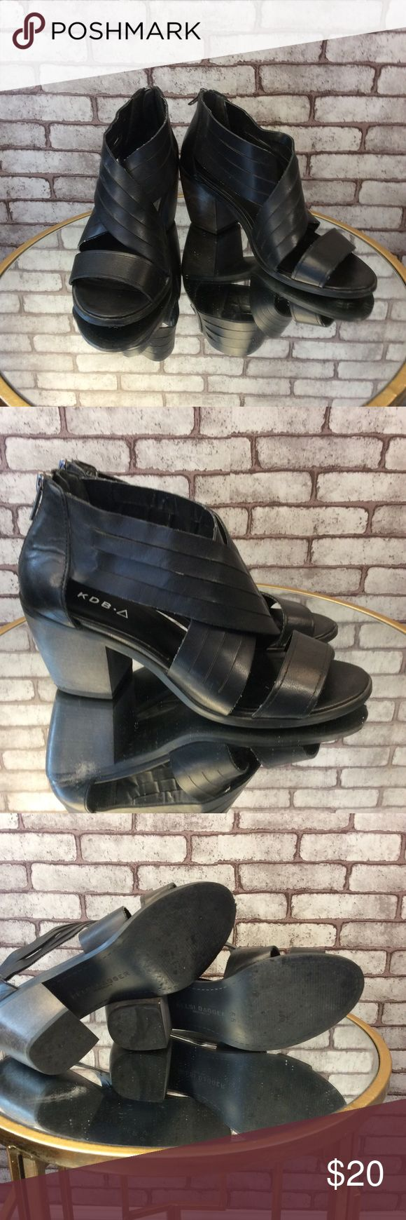 Kelsi dagger shoes Love these shoes !! They have a cool modern caged look. Gently used, good condition. Has a zipper in back , wooden heel. ⭐️ no trading or modeling ⭐️ Kelsi Dagger Shoes Sandals