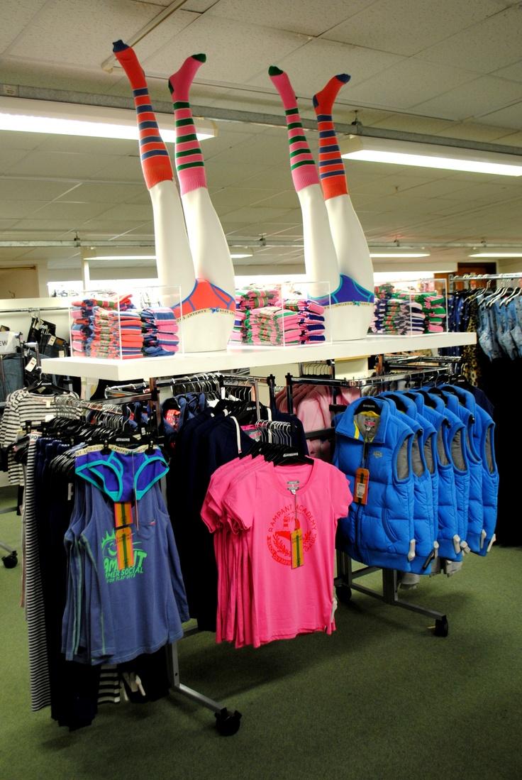 // display // visual merchandising // ladies fashion // rampant sporting // legs