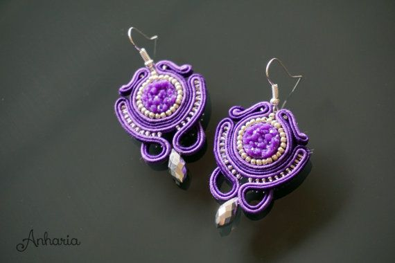 Beautiful Soutache Earrings. Different and Elegant Handmade Jewellery by Anharia