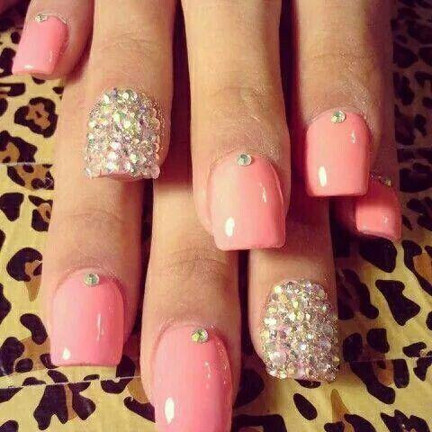 Piedritas Y Rosas Unas Nails Nail Art Y Nail Designs