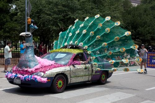 Peacock Car - 2011 Houston Art Car Parade