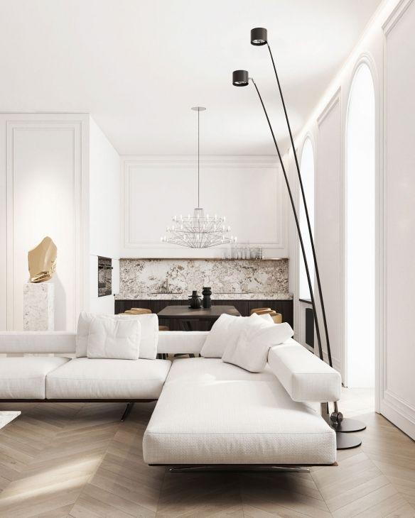 Ukraine Kiev En White Sofa Living Room
