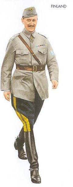 Marshal Carl Gustaf Emil Mannerheim in Finnish Army M36 generals' summer field uniform