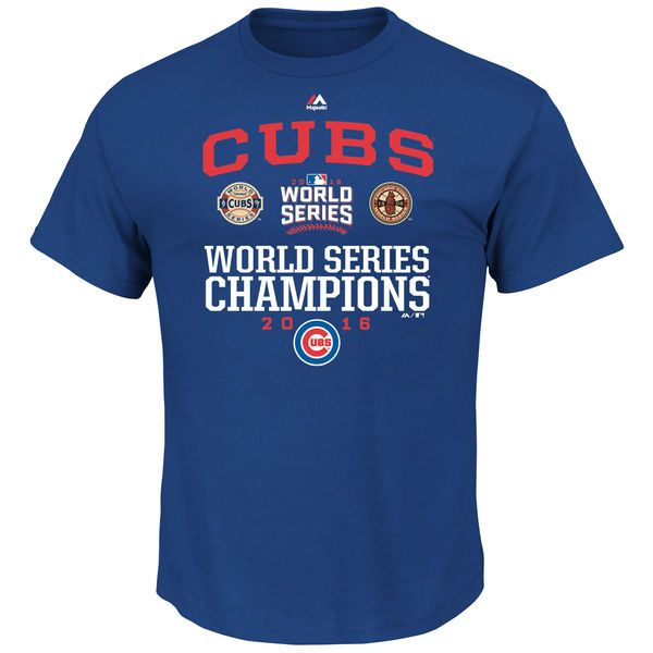 Chicago Cubs Majestic Big & Tall 2016 World Series Champions Headline News T-Shirt - Royal