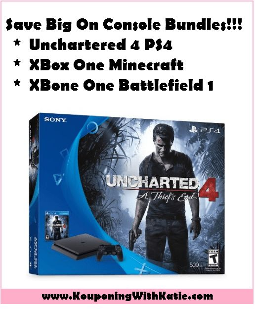 HUGE Sale on The PlayStation 4 500GB Unchartered or XBox One 500GB Bundles; Save 39%!!!! | KouponingWithKatie