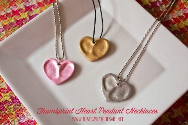 Thumbprint Heart Charm Pendants at thatswhatchesaid.com