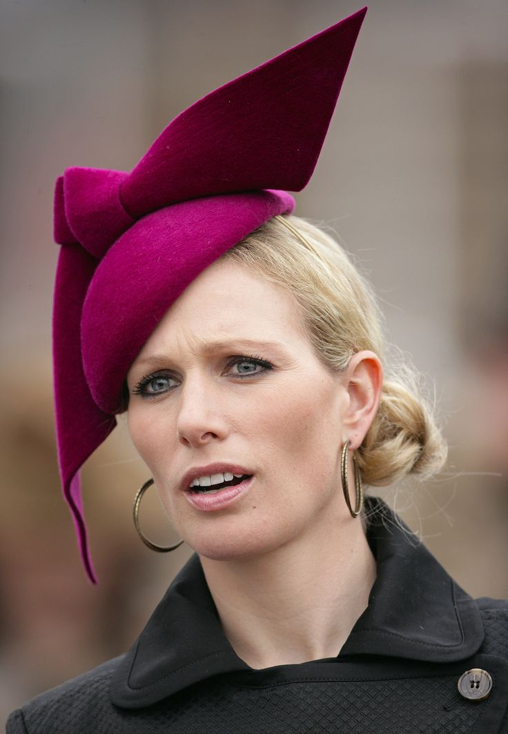 Zara watched races at the Cheltenham Horse Racing Festival in March 2012.