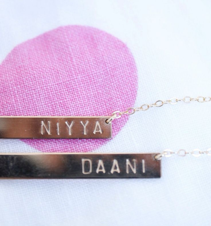 NAMEPLATE NECKLACES FROM LUCA JEWELRY ON ETSY / tahsin, the good