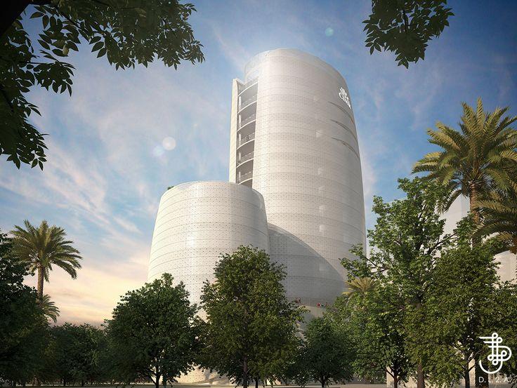 Futur siège de la Caisse Interprofessionnelle Marocaine de Retraite à Casa Anfa, Casablanca .DL2A, IGH,TOUR