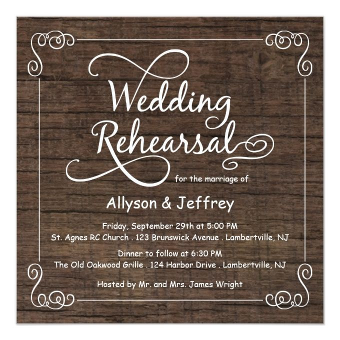 Best 25 Wedding rehearsal invitations ideas – After Rehearsal Dinner Party Invitations