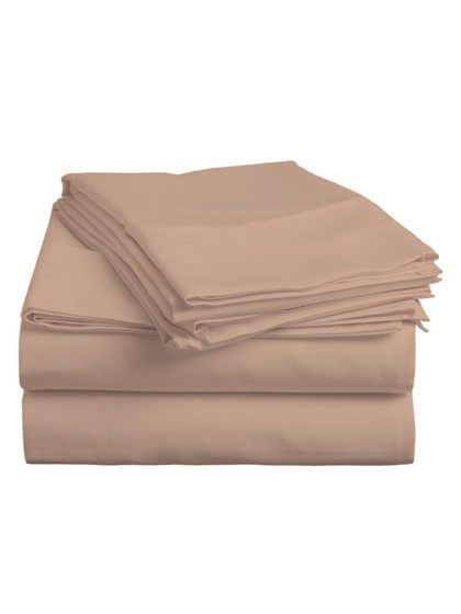 Cotton Solid Sheet Set by Luxury Linens at Gilt