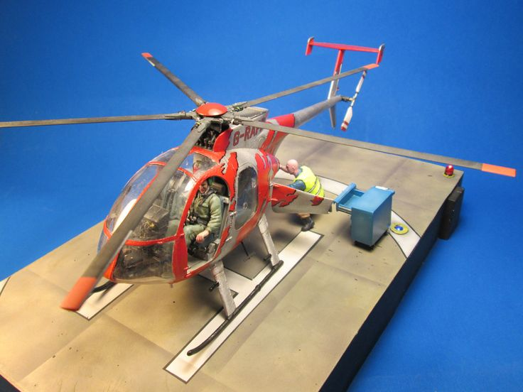 MD-500E, DRAGON 1/35 scale. By Carlos Escobar. #scale_model #helicopter #chopper #vignette #diorama http://www.helmo.gr/index.php?option=com_deeppockets&task=catContShow&cat=37&id=2200&Itemid=35