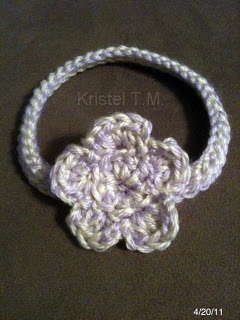 crochet baby headband - how to