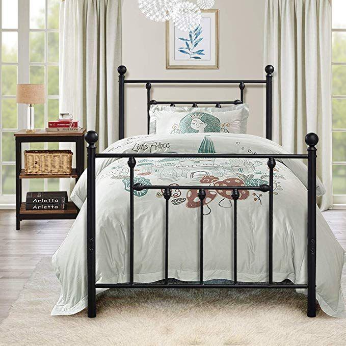 Amazon Com Twin Size Bed Frame Vecelo Metal Platform Mattress
