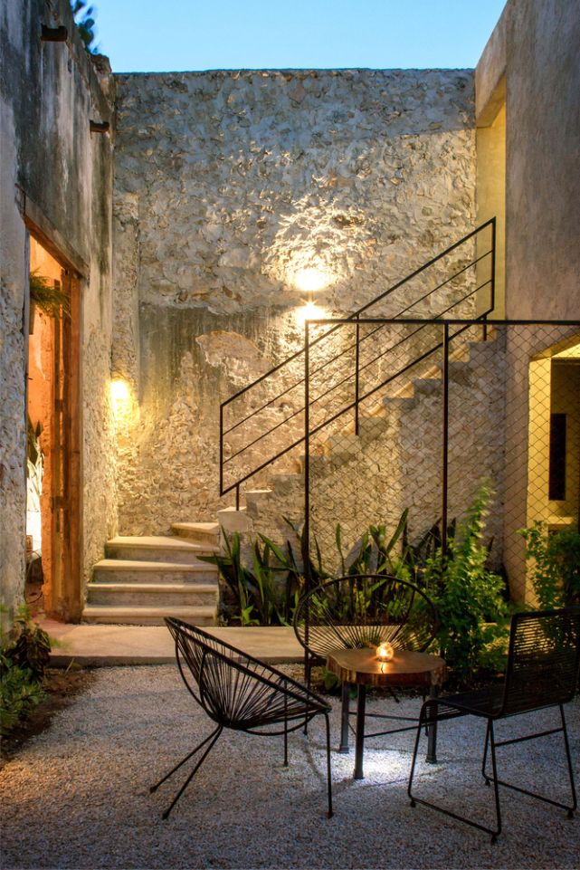 Las 25 mejores ideas sobre escaleras exteriores en for Escalera de hormigon con descanso