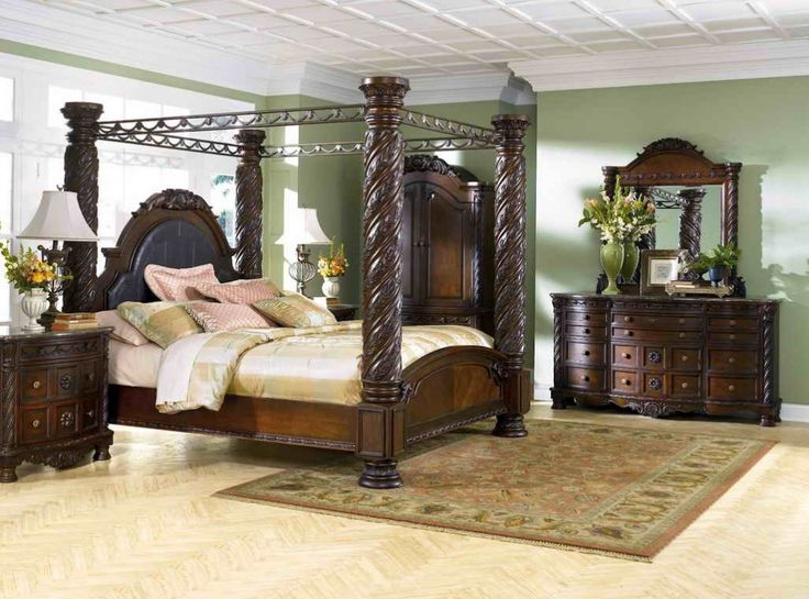 ashley furniture bedroom sets sale - Canopied Beds