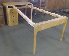 Expandable Buffet Table   Vintage 1960s Saginaw Slide Desk Watertown Slide  Co EXPANDABLE WOOD ...   Office   Pinterest   Buffet, Desks And Woods