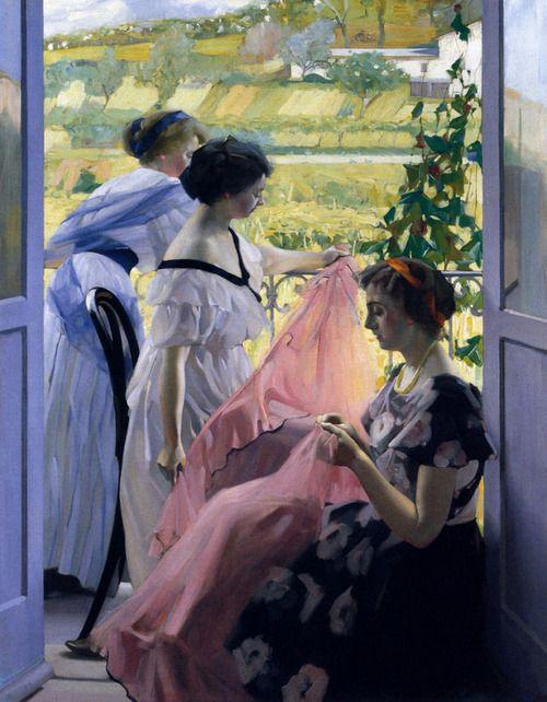 Le Balcon - Virgilio Constantini (1882-1940) @@@.....http://www.pinterest.com/lois801/art-i-love-5/