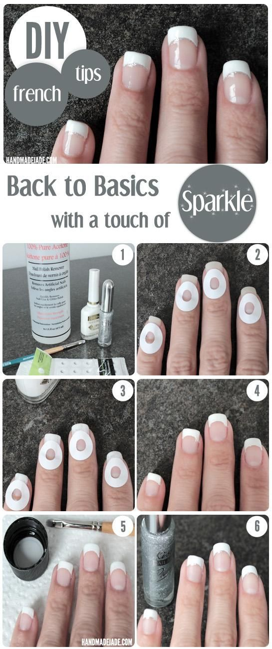 Sparkly French Manicure Tutorial http://www.prettydesigns.com/21-awesome-french-manicure-designs
