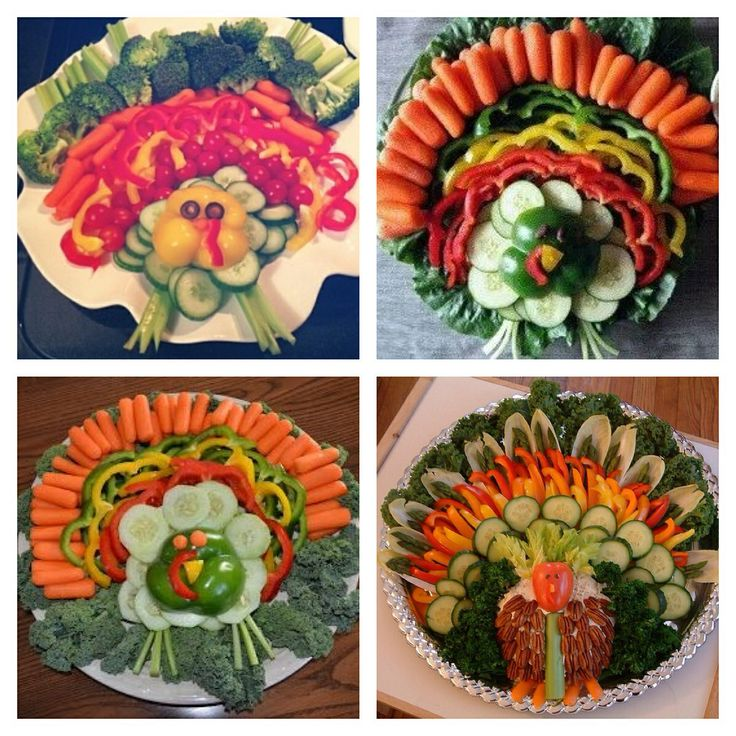 Turkey Veggie Trays. Cute appetizer for Thanksgiving!