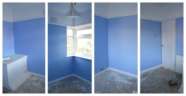 Baby Girl Nursery - Blue Room with Dulux Blue Seduction 3